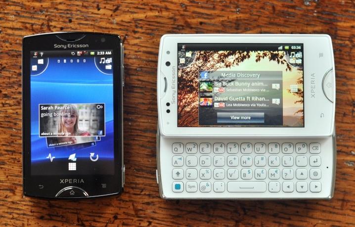 Sony Ericsson Xperia Mini - retro ICS