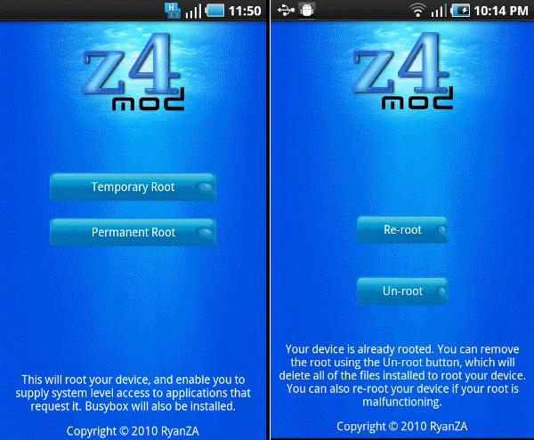 Z4root 1.3.0 скачать
