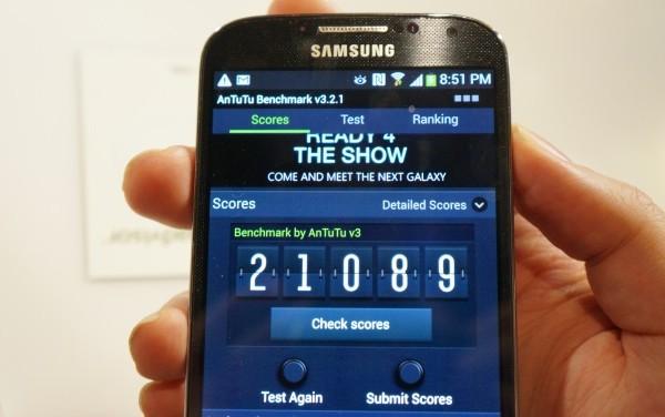 Samsung Galaxy S4 benchmark: non ci lamentiamo proprio