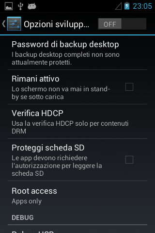 Huawei Sonic - Android 4.0.4 - Sviluppatore