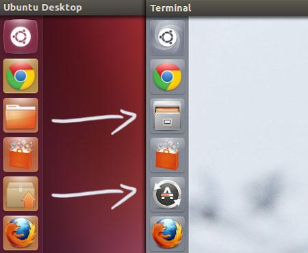 Ubuntu 13.04 icon-changes