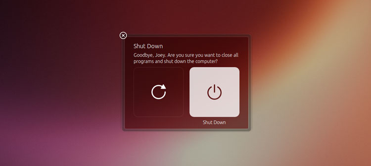 Ubuntu 13.04 logout