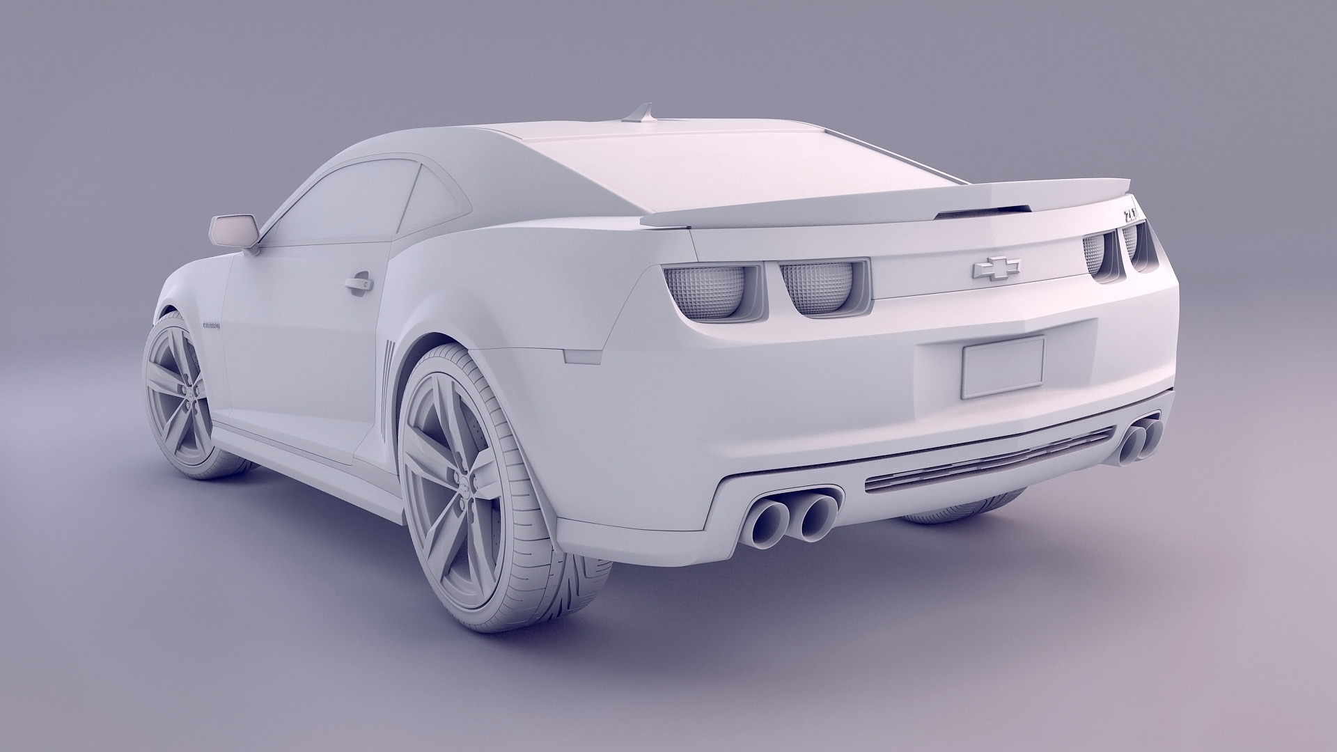 Blender - Camaro white