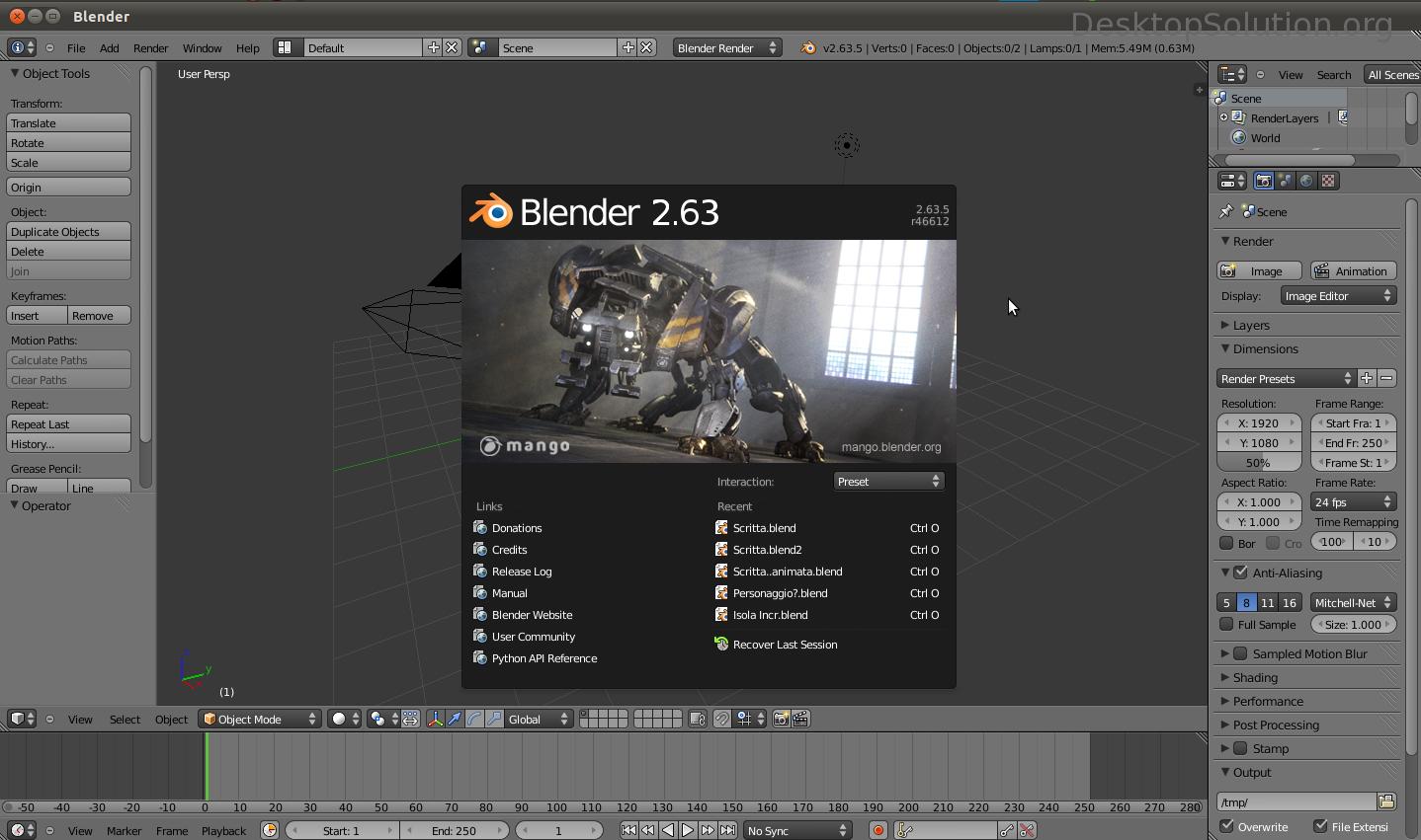 Blender 2.63 - Linux