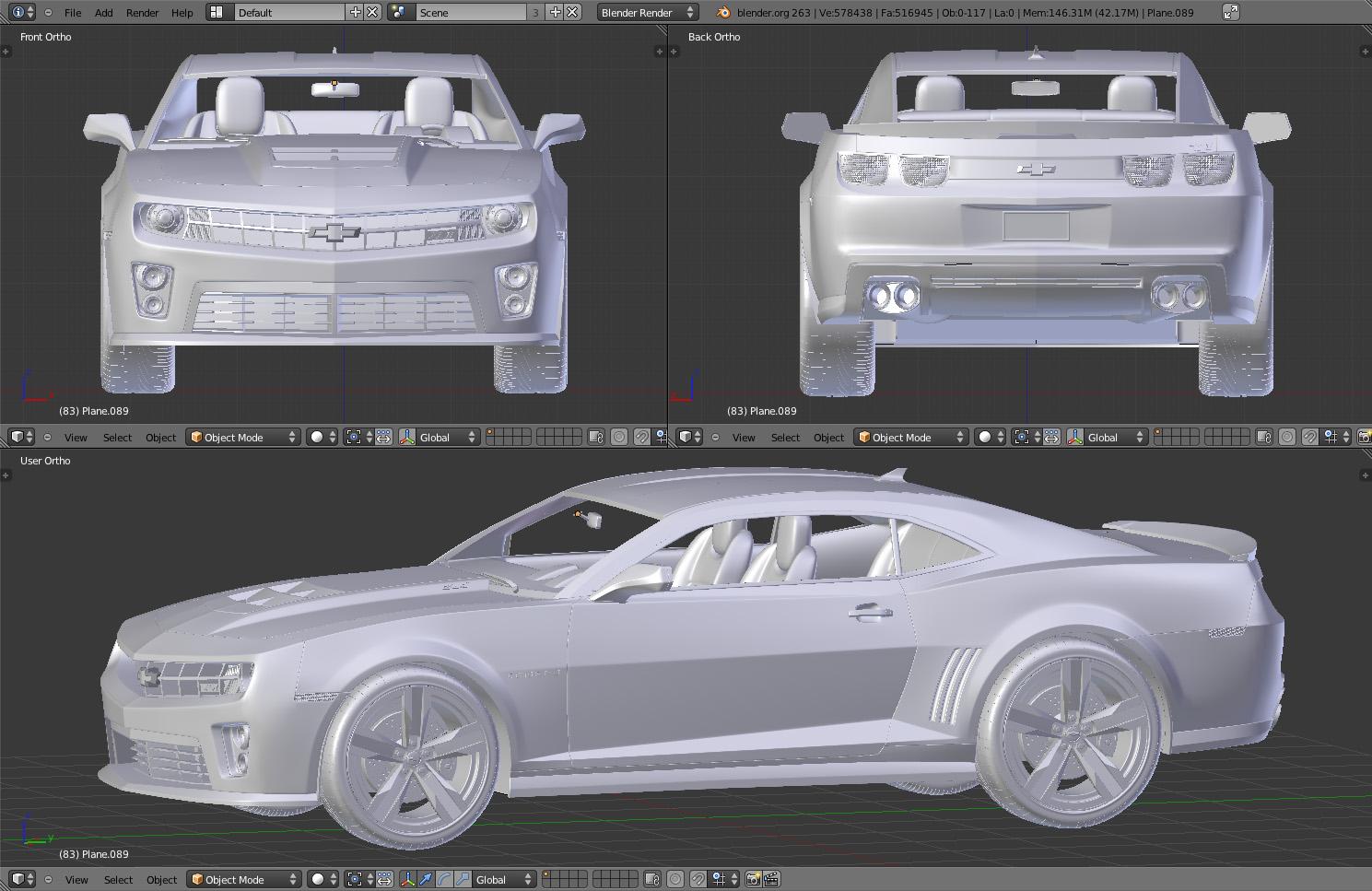 Blender - Camaro in costruzione