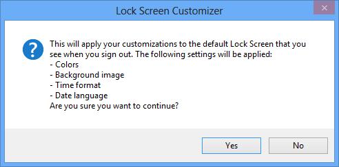 Lock Screen Customizer - Save