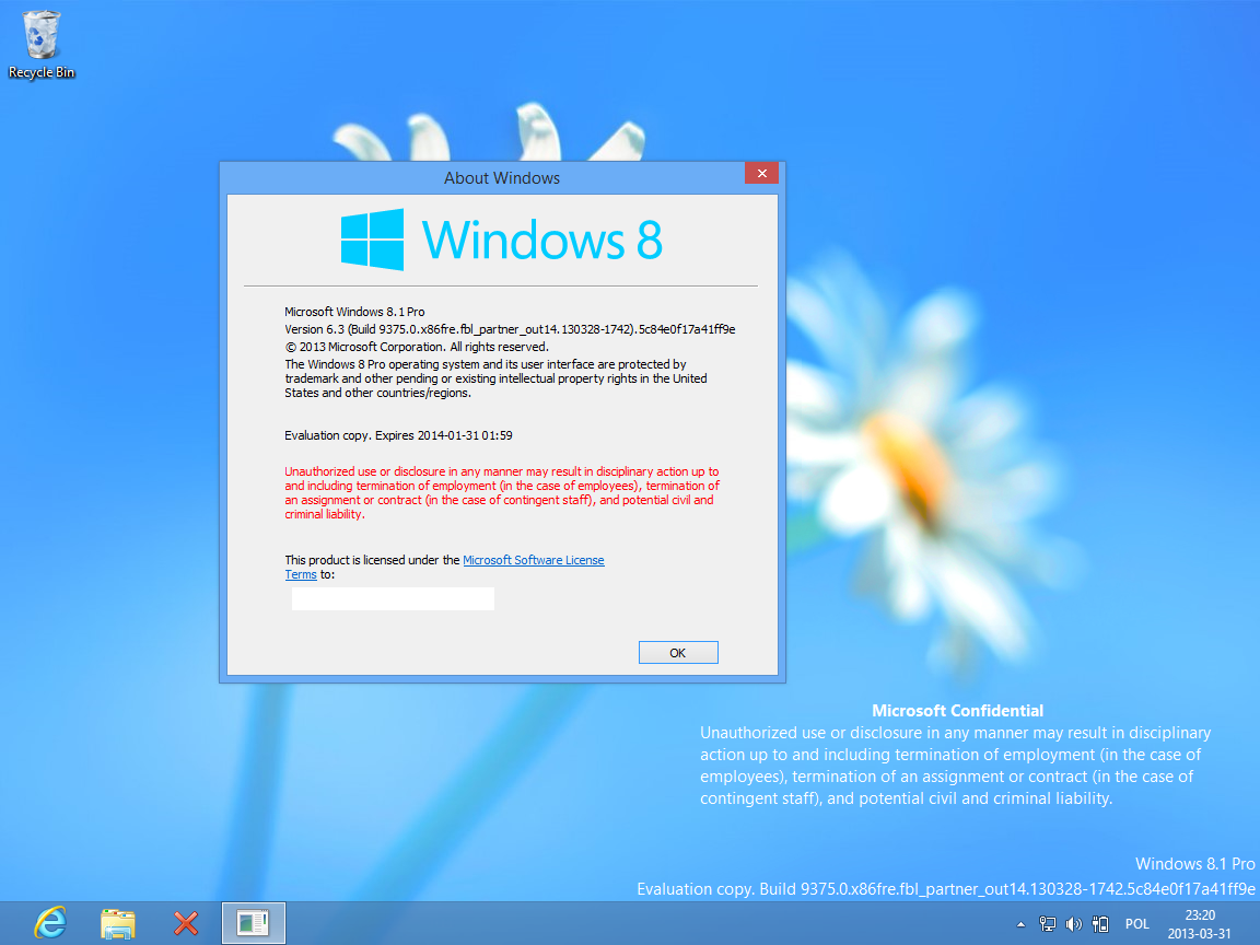 Licenze - Windows 8.1 Free