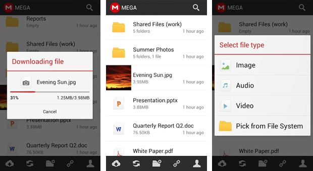 Mega - Android - App