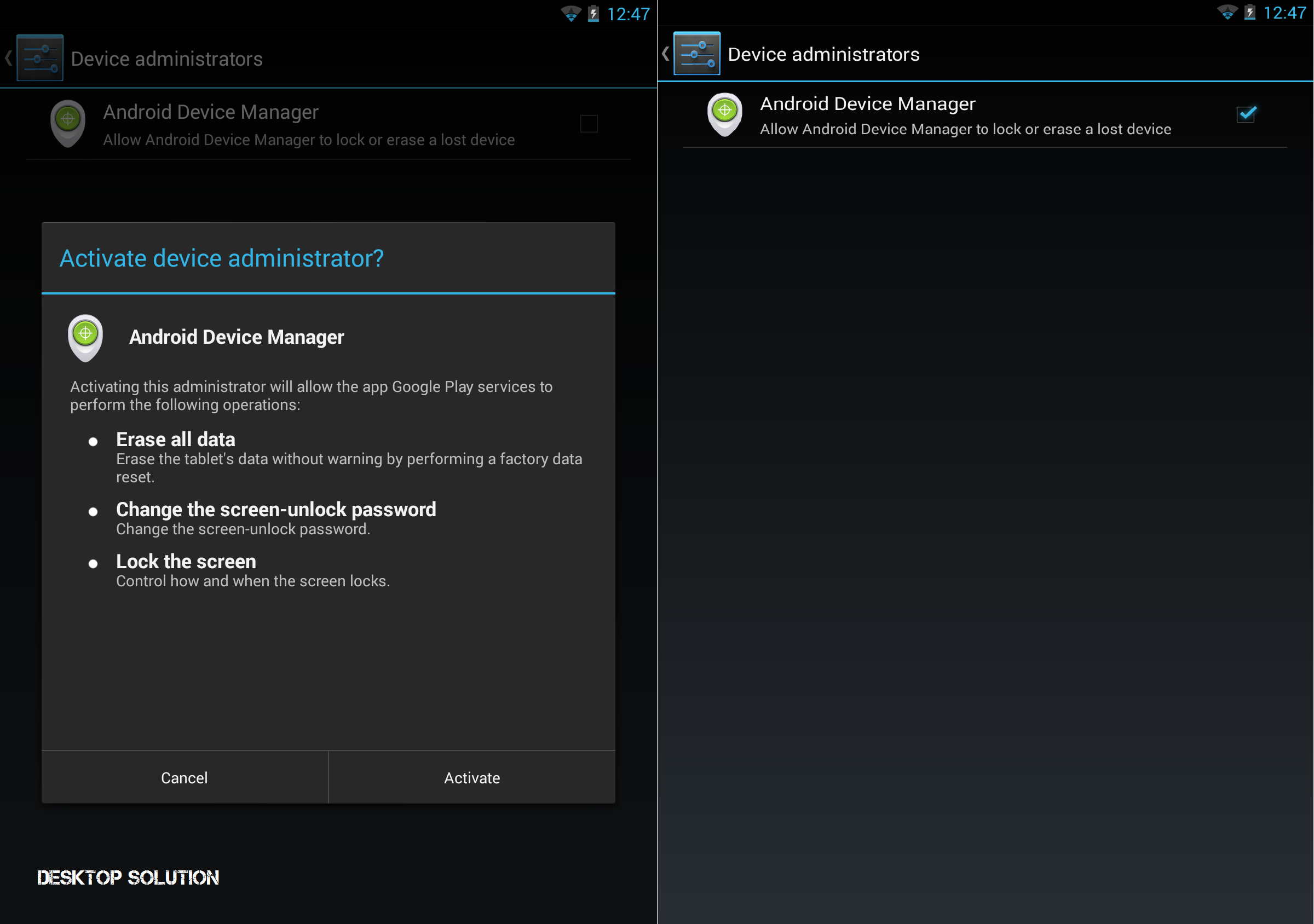 Android Device Manager 1.0 - Install & Admin