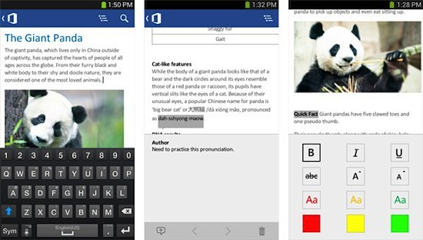 Microsoft Office Mobile per Android