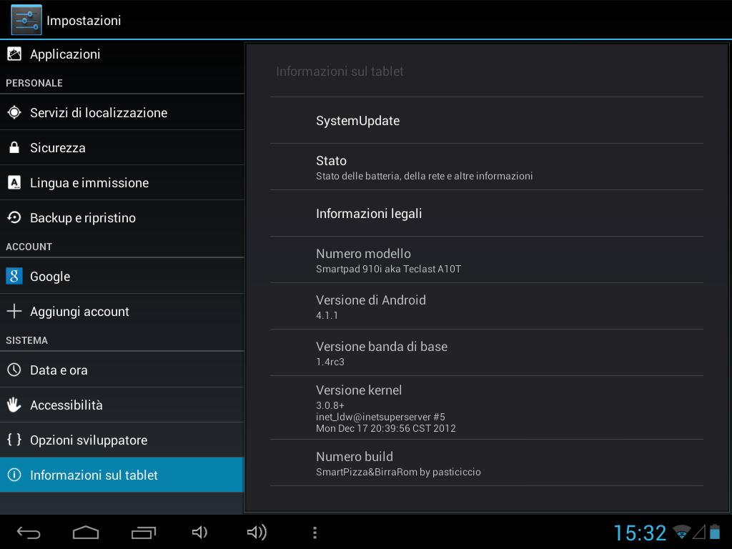 Mediacom 910i - Android 4.1.1
