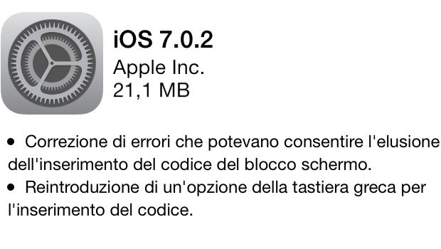 iOS - 7.0.2