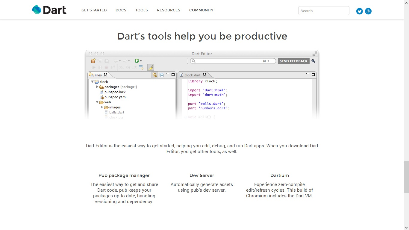 Dart - Dark Editor - Home