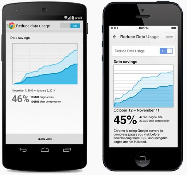 Chrome Mobile Reduce Data