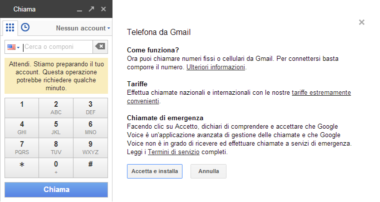Google Voice integrato in Hangouts [Telefona da Gmail]