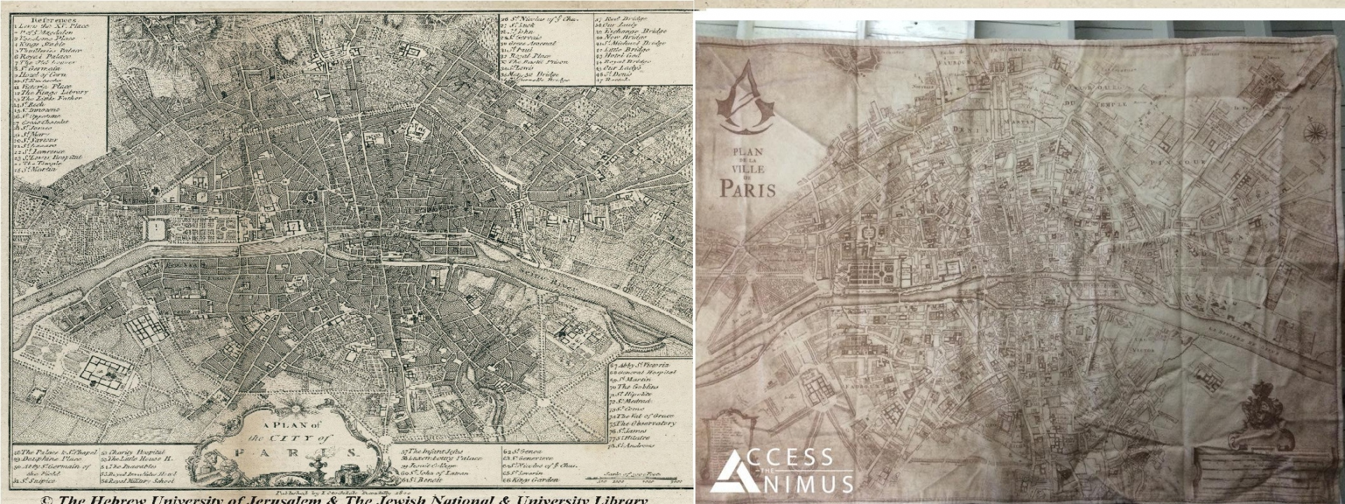 Assassin's Creed Unity - Map and Paris