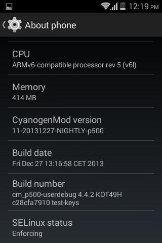 LG Optimus One P500 info 4.4.2 rom