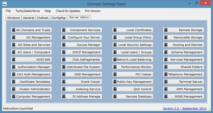 Ultimate Settings Panel - Windows - img1