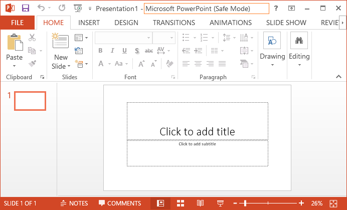 Open-Microsoft-PP-in-safe-mode