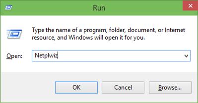 Windows 10 - Run - netplwiz