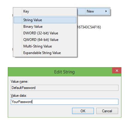 Windows 10 - login - registro - user - password