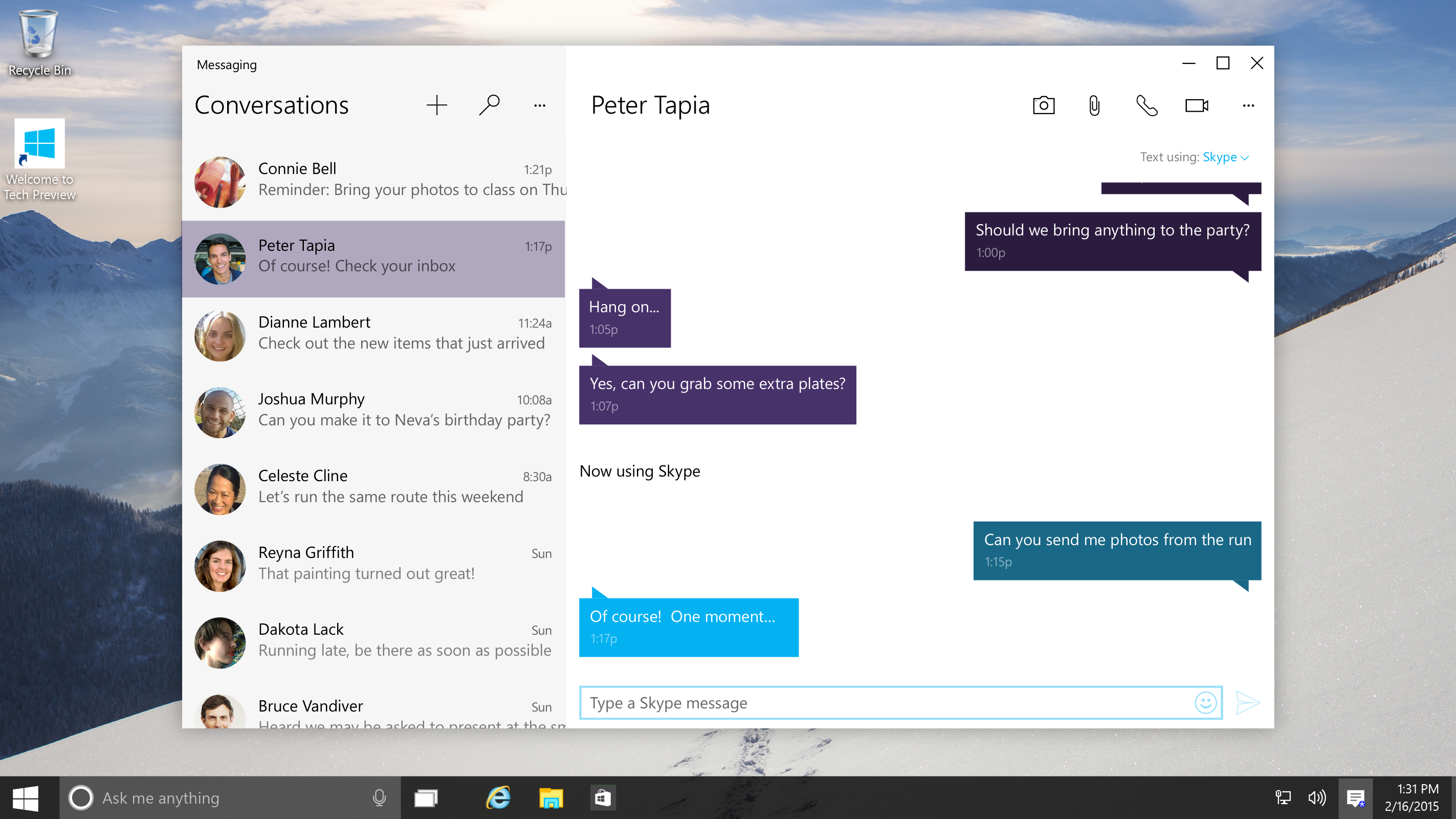 Skype on Windows 10 - Photo 1
