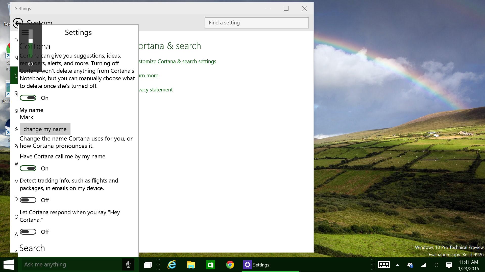 build 9926 - Windows 10