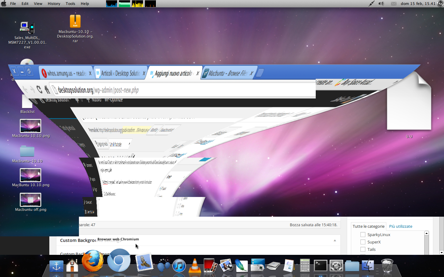 Macbuntu open windows