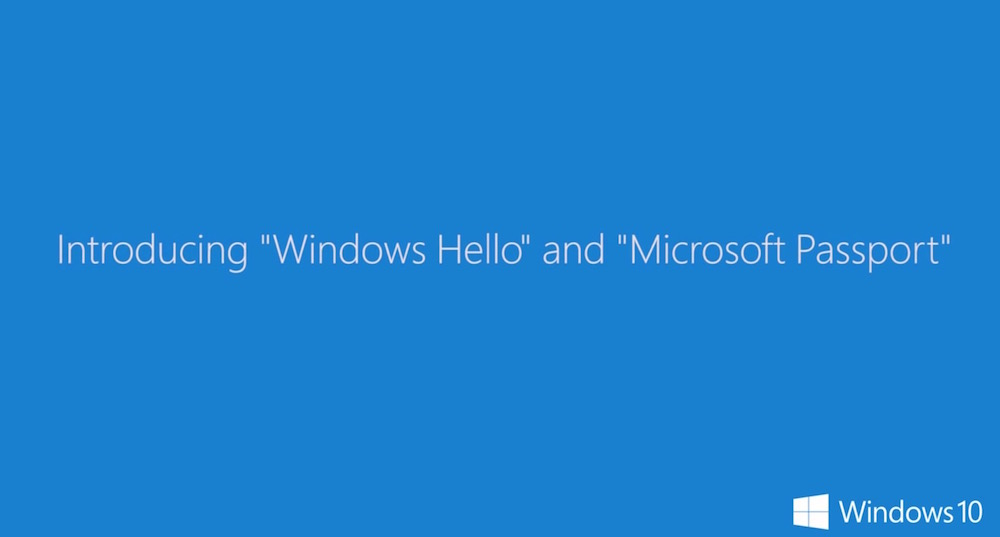 Windows Hello - Microsoft Passport