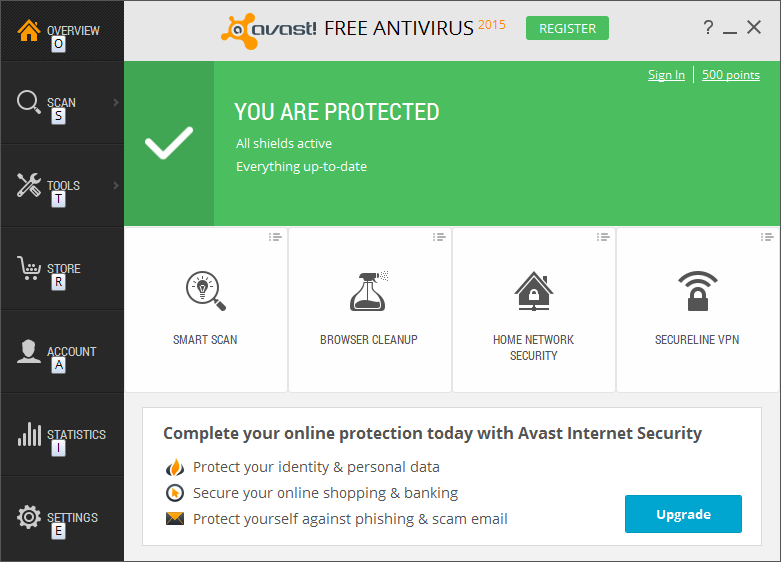Avast Free Antivirus - Windows 10