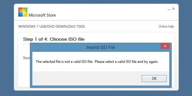 ISO Non Valida Error
