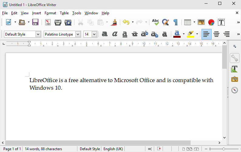 LibreOffice - Windows 10