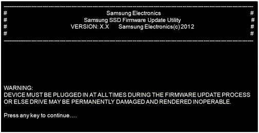 SSD samsung update