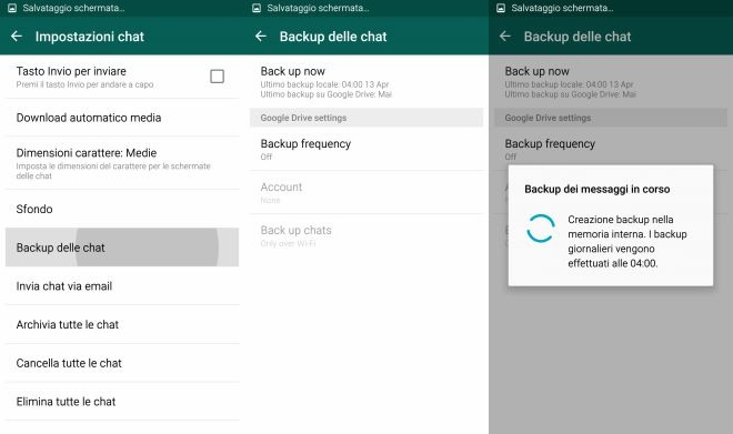 WhatsApp 2.12.45 - Google Drive - backup