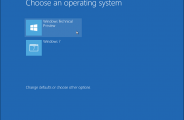 Windows 10 - Windows 7 boot select
