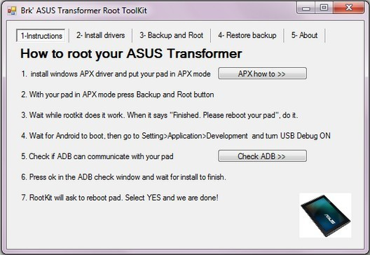 Asus Root toolkit opzioni