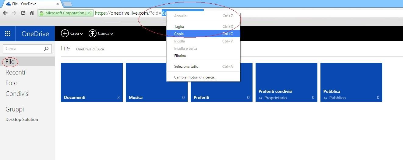 OneDrive CID URL