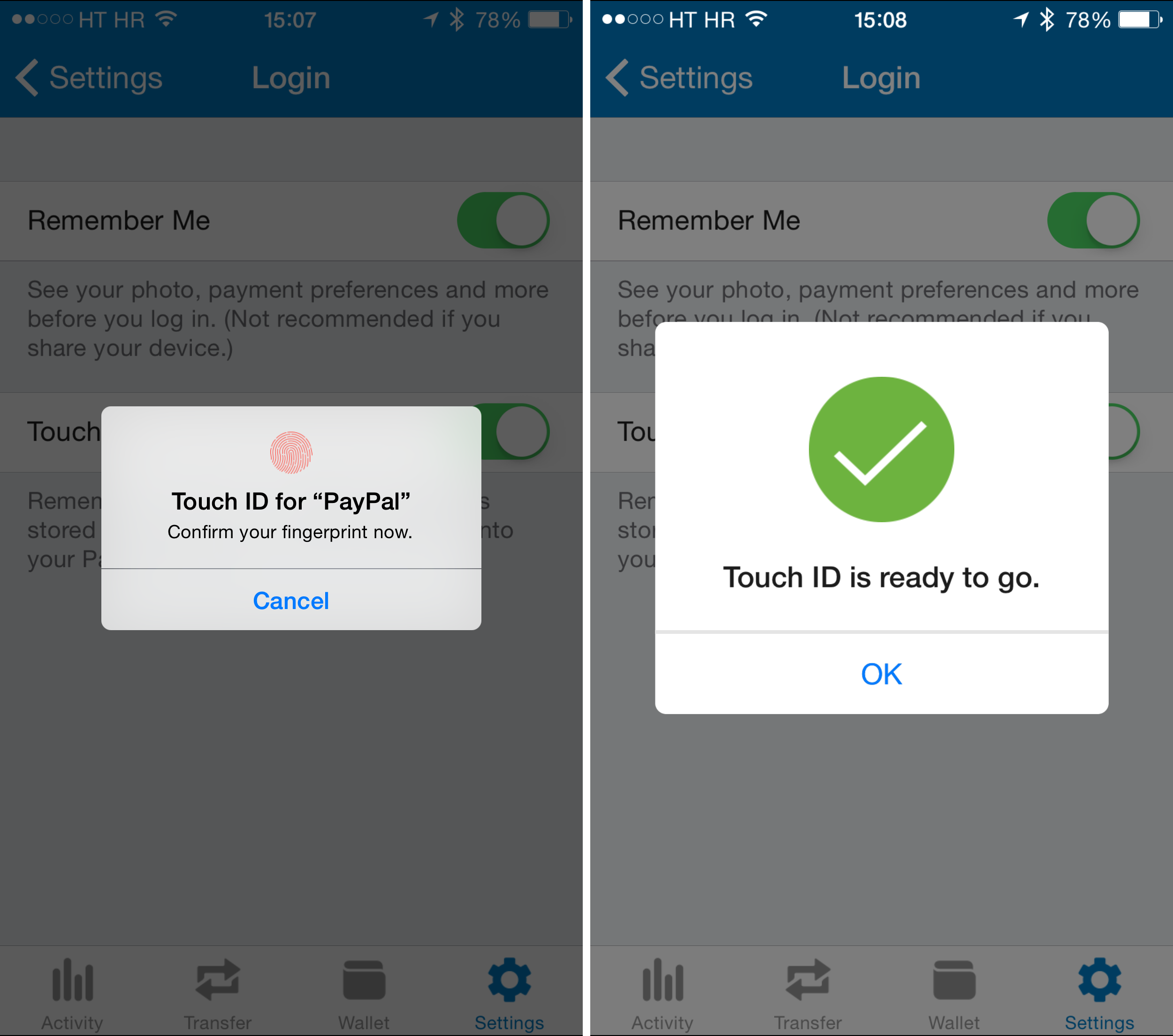 PayPal - 5.11.5 - iOS - Touch ID