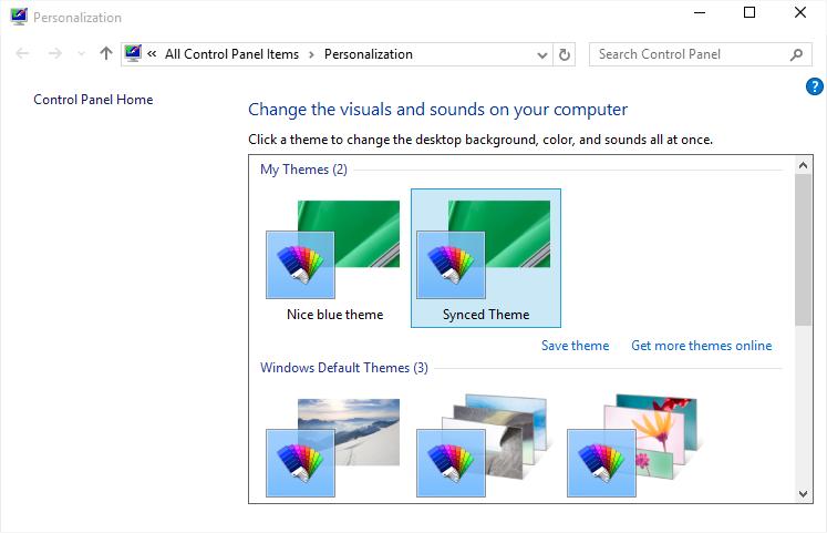 Personalizza - Finestra - Windows 10