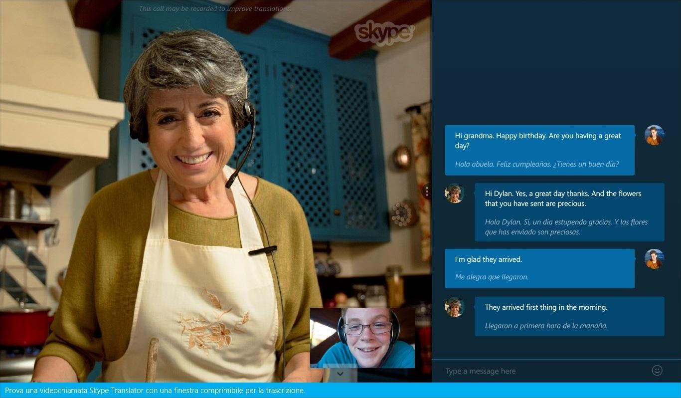 Skype Translator - Screen