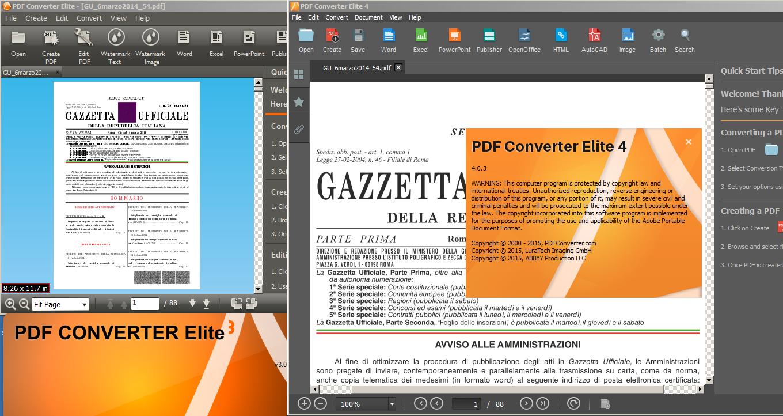 PDF Converter Elite 4 VS PDF Converter Elite 3