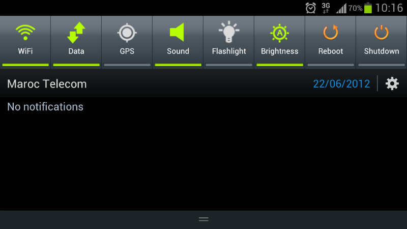 Toggle rapidi Android 2.x