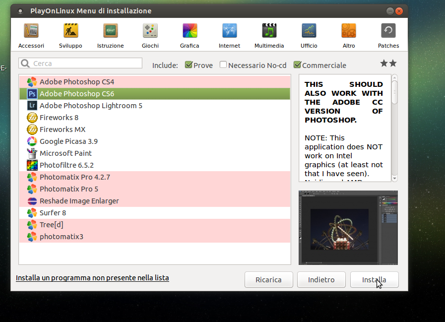 Adobe Photoshop Linux