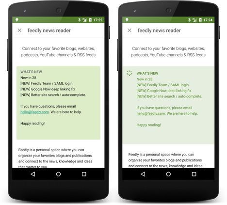Google Play Store v.5.7.6 - Screen