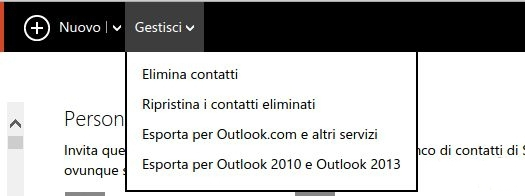 Outlook gestione