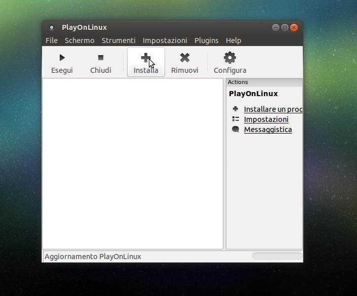 PlayOnLinux Installa