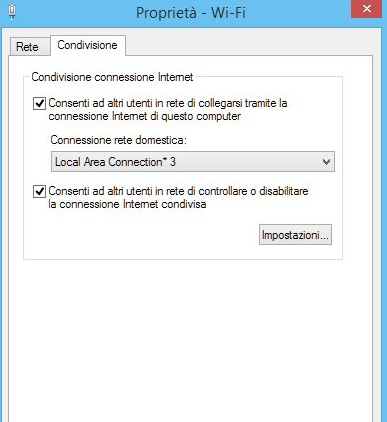 Condivisione rete Windows