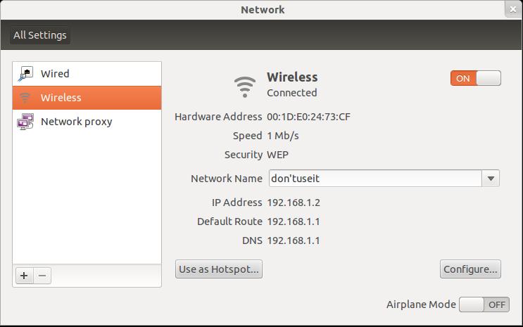 Hotspot ubuntu