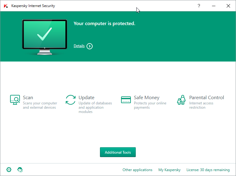 Kaspersky Internet Security 2016 - Windows 10