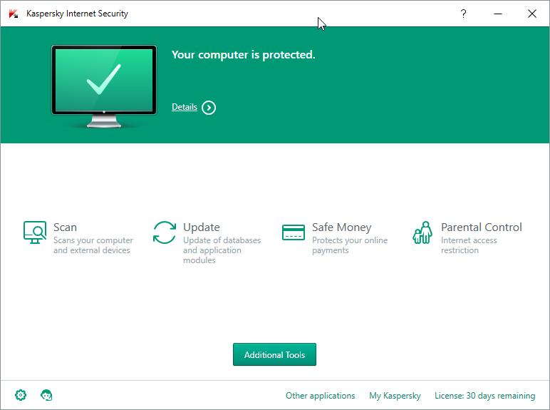 Kaspersky Internet Security 2016 - Windows 10